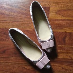 Metaphor Womens Pink Velvet Shoes Size7